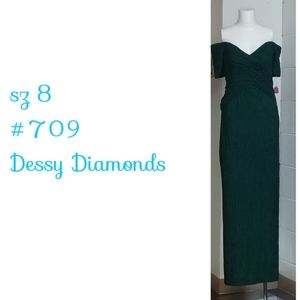 Vintage sz 8  Dessy Diamond Creations Evening Gown